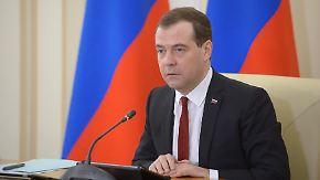 Keine Einigung zwischen USA und Russland: Medwedew treibt Krim-Anbindung voran