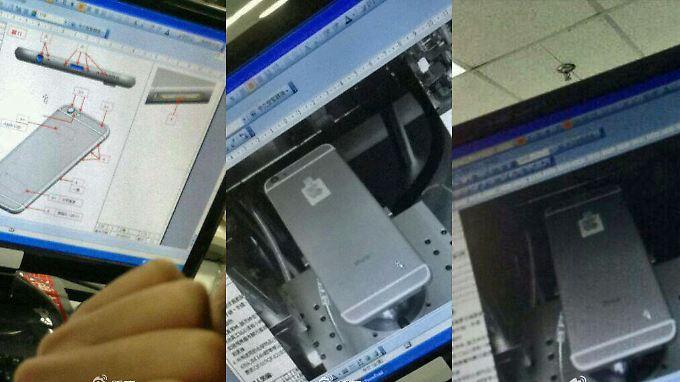Die Bilder des angeblichen iPhone 6 sollen von einem Monitor in den Foxconn-Werken abfotografiert worden sein.