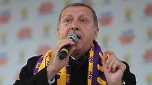 Erdogan auf einer Wahlkampfveranstaltung am vergangenen Wochenende.