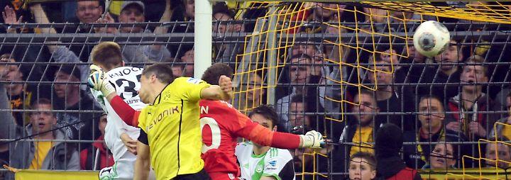 Dortmunder des Spieltags war Torjäger Robert Lewandowski, der mit dem per Rücken erzielten Ausgleich gegen Wolfsburg die Wende einleitete.