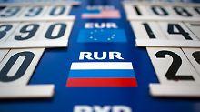 Auch Euro gibt leicht nach: Russischer Rubel stürzt ab