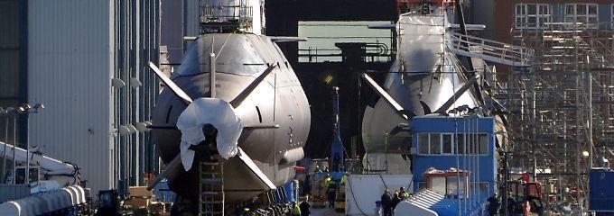 U-Boot-Werft von ThyssenKrupp Marine Systems in Kiel.
