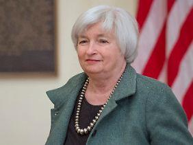 Mehr Spielraum bei Konjunkturhilfen und Leitzins: Fed-Chefin Yellen kann der Erholung am Arbeitsmarkt gelassen entgegensehen.
