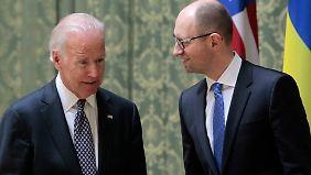 Schwelender Konflikt in Ost-Ukraine: US-Vizepräsident Biden verspricht Ukraine Hilfe
