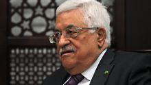 Palästinenserpräsident Abbas. Er solle zwischen einem Pakt mit der Hamas und einem echten Frieden mit Israel wählen, findet Netanjahu.