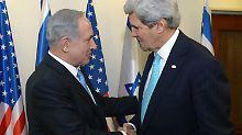 Netanjahu und Kerry vor wenigen Wochen in Jerusalem.