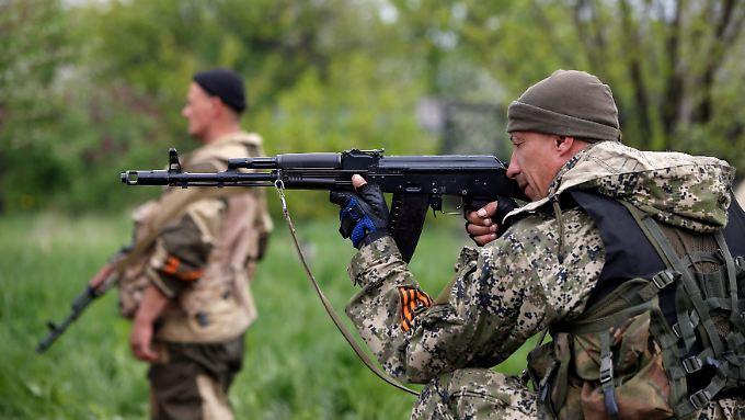 Prorussische Rebellen im Osten der Ukraine.