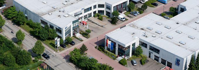 Geräte für dreidimensionale Druckerzeugnisse: SLM Solutions eröffnet der deutschen Druckertradition eine neue Dimension (Die Lübecker SLM-Zentrale aus der Luft, Blickrichtung Südost).