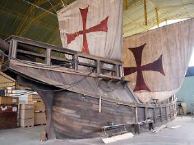 """Von der """"Santa Maria"""" gibt es viele Nachbauten - dieses Schiff war für Filmdreharbeiten."""