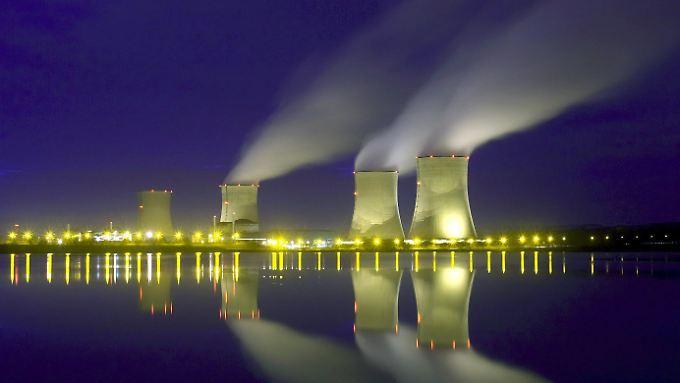 Das französische Atomkraftwerk Cattenom nahe der deutschen Grenze