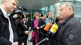 Jakunin zu Beginn der Europa-Konferenz des Deutsch-Russischen Forums in Berlin.