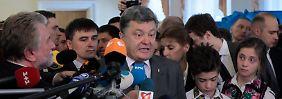 Absolute Mehrheit bei Ukraine-Wahl: Poroschenko siegt im ersten Durchgang
