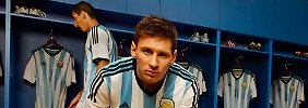 """""""Ich denke, wir gehen nach Brasilien in einer großartigen Verfassung mit allen Chancen, den Titel zu gewinnen"""": Lionel Messi."""