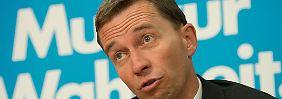 """AfD-Chef Lucke teilt aus: """"Herr Friedman, halten Sie die Klappe!"""""""