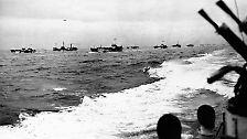 Mit einer Armada, die der dort verschanzten Wehrmacht kaum eine Chance lässt.