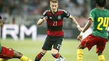 Auch beim Testspiel der deutschen Fußballer gegen Kamerun hat unser Kolumnist etwas gelernt. Zum beispiel, dass das auf dem Bild Marco Reus ist.