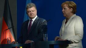 Für das Treffen mit Poroschenko reiste Merkel von Brüssel nach Berlin. Am nächsten Tag geht es nach Frankreich.