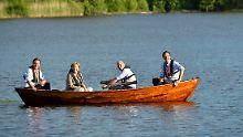 Cameron, Merkel, Reinfeldt, Rutte treffen sich zum Mini-Gipfel im schwedischen Harpsund.