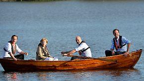 """""""Frage des europäischen Geistes"""": Merkel auf Bootstour mit Juncker-Gegnern"""