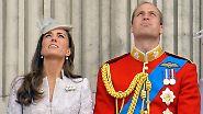 Prinz William und seine Frau Catherine haben den zehn Monate alten Jungen zu Hause gelassen.