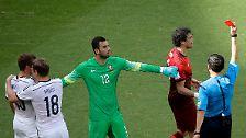 Der Portugiese sieht rot.