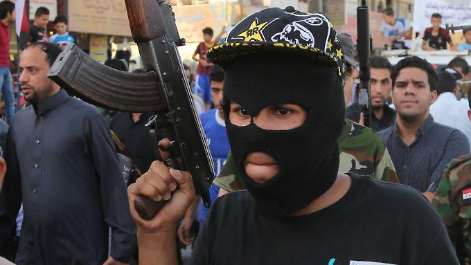 Ein Schiit, in Bagdadm der die Isis bekämpfen will.