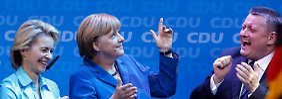 Besonders hip sind auch Angela Merkels Auftritte nicht. Doch die CDU-Vorsitzende kann mit anderen Qualitäten überzeugen.