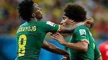 """Finke: """"Hasse so etwas"""": Kamerun-Spieler gehen aufeinander los"""