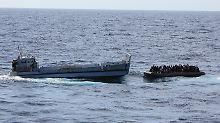 Rettungsaktion der italienischen Küstenwache