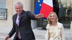 ... als GE-Chef Immelt und GE-France-Direktorin Gaymard.