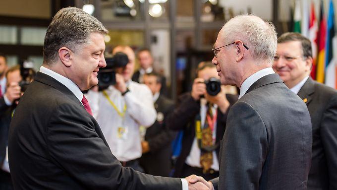 Petro Poroschenko bekommt Unterstützung von der EU.