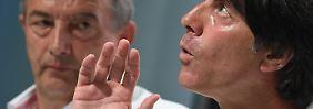 Löw (r.) muss die letzten paar Prozent Leistung aus seinen Spielern herauskitzeln - DFB-Präsident Niersbach (l.) vertraut seinem Trainer.