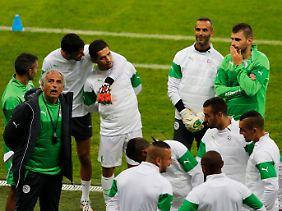 Bosnischer Trainer, afrikanische Mannschaft: Algerien beim Abschlusstraining.