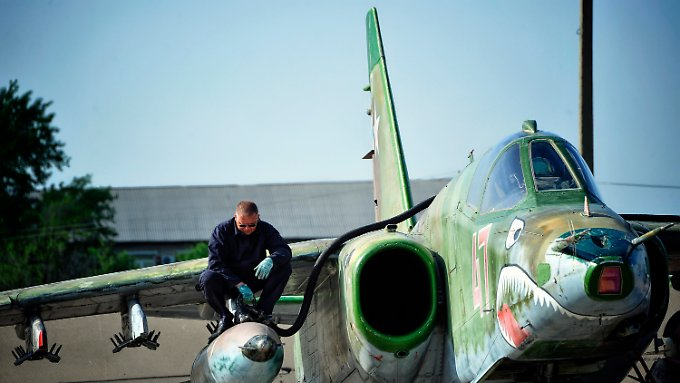 Eine Sukhoi Su-25SM.