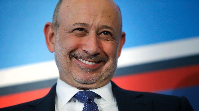 Bankchef Lloyd Blankfein gut lachen: Goldman Sachs kann erneut überraschen.