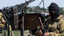 Prorussische Rebellen in einer Stellung nahe Lugansk.