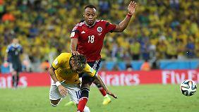 Freud und Leid beim WM-Gastgeber: Brasilien gewinnt und verliert Neymar