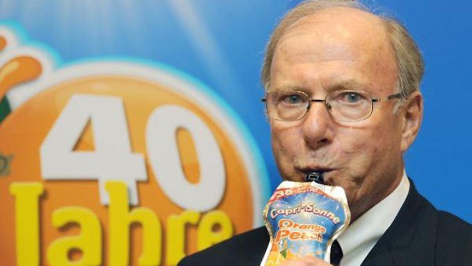 Firmengründer Hans-Peter Wild (hier im Jahr 2009) trennt sich von seinem Unternehmen - behält aber den Fruchtsaft-Hersteller.