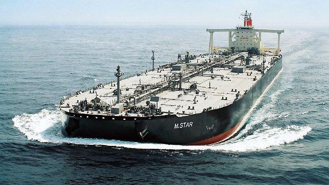 """Ständig unterwegs: Die """"M.Star"""" der Mitsui OSK transportiert Rohöl aus der Golfregion nach Japan (Archivbild)."""