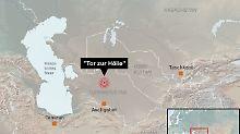 """Ein Land und seine Attraktionen: Turkmenistan will Abenteurer ans """"Tor zur Hölle"""" locken."""