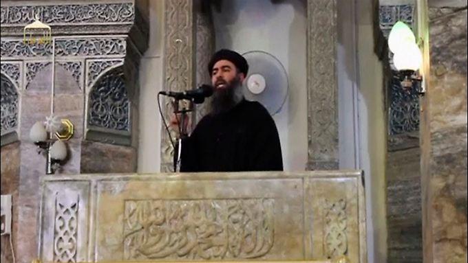 Ob das Material in die Hände der Isis gefallen ist, geht aus der Meldung nicht hervor. Im Bild Isis-Chef Chef Abu Bakr al-Bagdadi.