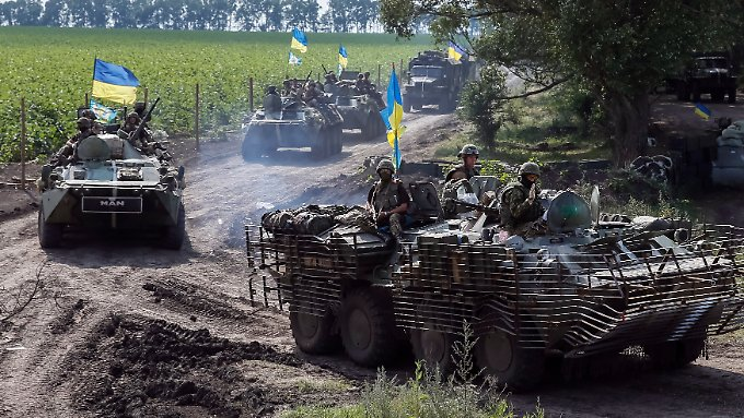 Ukrainische Truppen nahe Slawjansk.