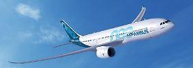 Und so soll die neue Großraummaschine für die Langstrecke aussehen: Eine A330-800neo in der Computersimulation.
