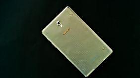 Auf der Rückseite hat das Galaxy Tab S Haltepunkte, wo verschiedene Cover einrasten können.