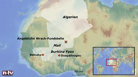 Der vom Flughafen Ouagadougou gemeldete Absturzort liegt wenige Hundert Kilometer von der algerischen Grenze entfernt.