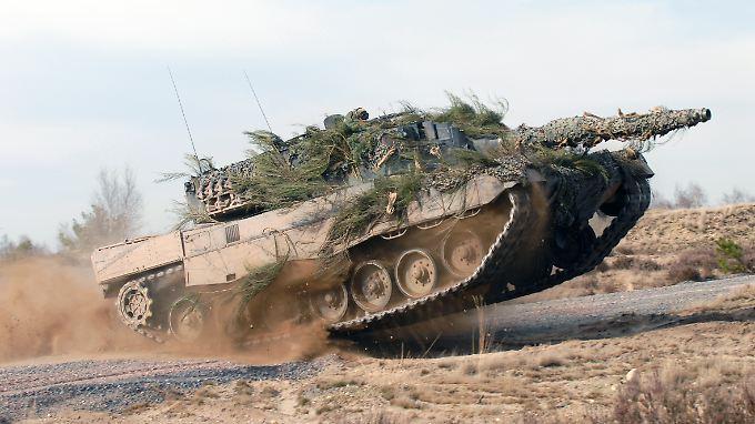 Der deutsche Leopard 2 gilt als einer der modernsten Panzer der Welt.