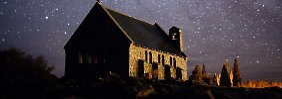 Der Sternenhimmel über Neuseeland.