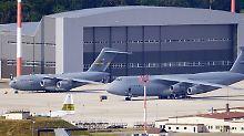 Der US-Luftwaffenstützpunkt Ramstein in Rheinland-Pfalz.