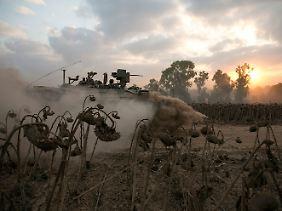 Israelische Panzer im Einsatz.