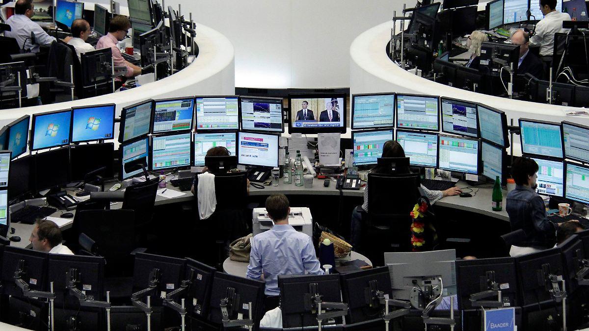 Dax gibt nach: Die Börse lässt Luft ab - n-tv.de